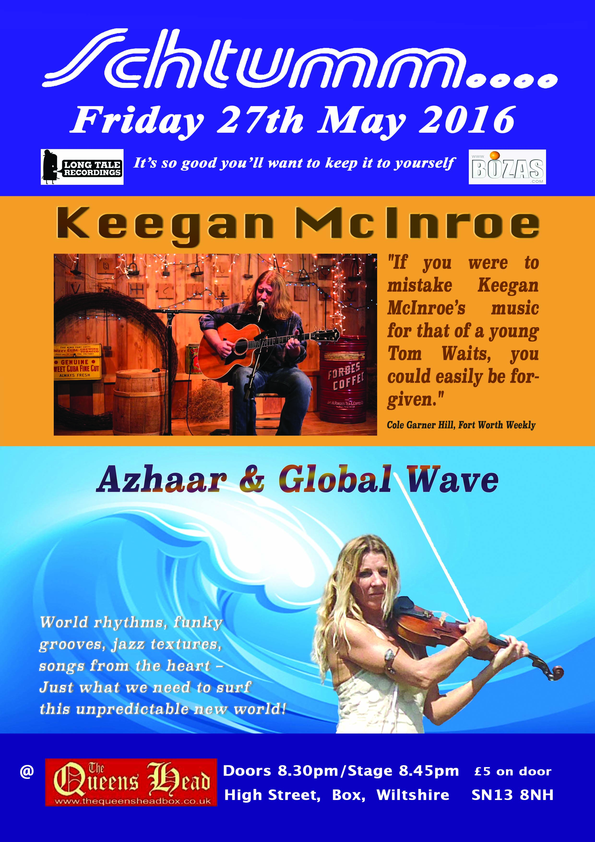 Schtumm May 27th 2016 Poster d3 Azhaar Global Wave